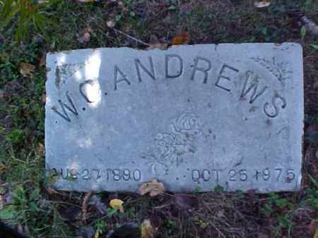 ANDREWS, W. C. - Meigs County, Ohio | W. C. ANDREWS - Ohio Gravestone Photos