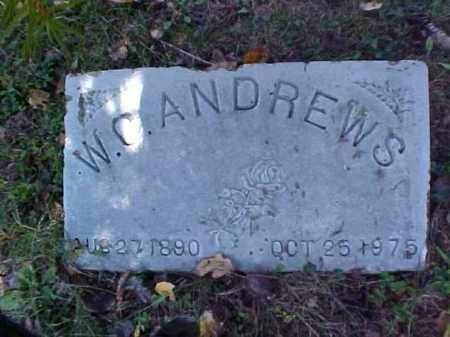 ANDREWS, W. C. - Meigs County, Ohio | W. C. ANDREWS - Ohio Gravestone Photos