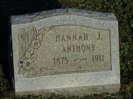 ANTHONY, HANNAH J. - Meigs County, Ohio | HANNAH J. ANTHONY - Ohio Gravestone Photos