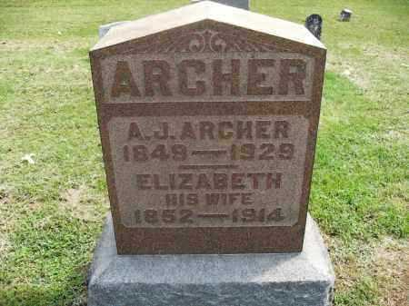 ARCHER, A.J. - Meigs County, Ohio | A.J. ARCHER - Ohio Gravestone Photos