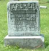 ARCHER, DAVID - Meigs County, Ohio | DAVID ARCHER - Ohio Gravestone Photos