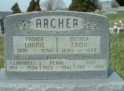 GOBLE ARCHER, ERMA ROSETTA - Meigs County, Ohio | ERMA ROSETTA GOBLE ARCHER - Ohio Gravestone Photos