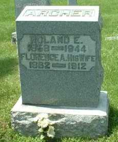 ARCHER, ROLAND E. - Meigs County, Ohio | ROLAND E. ARCHER - Ohio Gravestone Photos