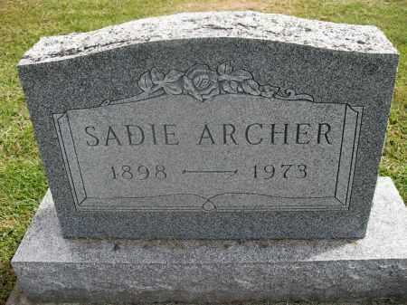 ARCHER, SADIE - Meigs County, Ohio | SADIE ARCHER - Ohio Gravestone Photos