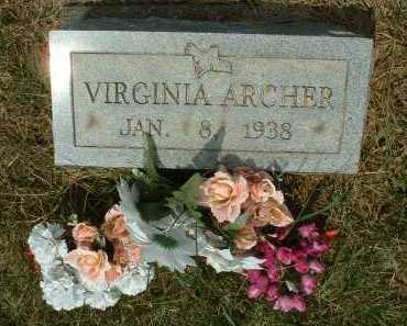 ARCHER, VIRGINIA - Meigs County, Ohio | VIRGINIA ARCHER - Ohio Gravestone Photos