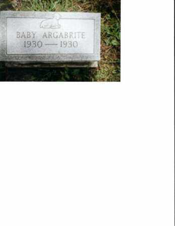 ARGABRITE, BABY CHILD WAS NOT NAMED - Meigs County, Ohio | BABY CHILD WAS NOT NAMED ARGABRITE - Ohio Gravestone Photos