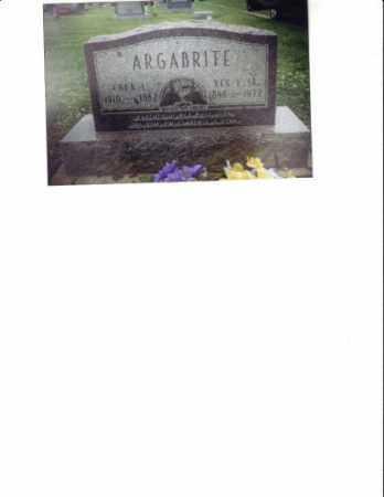 ARGABRITE, REX V. - Meigs County, Ohio | REX V. ARGABRITE - Ohio Gravestone Photos
