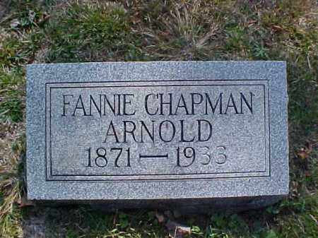 CHAPMAN ARNOLD, FANNIE - Meigs County, Ohio | FANNIE CHAPMAN ARNOLD - Ohio Gravestone Photos
