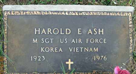 ASH, HAROLD E. - Meigs County, Ohio | HAROLD E. ASH - Ohio Gravestone Photos