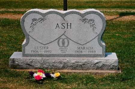 ASH, LUSTER - Meigs County, Ohio | LUSTER ASH - Ohio Gravestone Photos