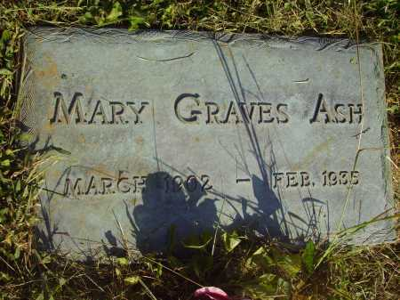 GRAVES ASH, MARY - Meigs County, Ohio | MARY GRAVES ASH - Ohio Gravestone Photos