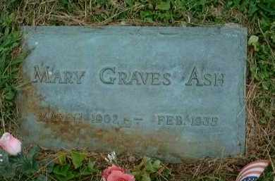 ASH, MARY - Meigs County, Ohio | MARY ASH - Ohio Gravestone Photos