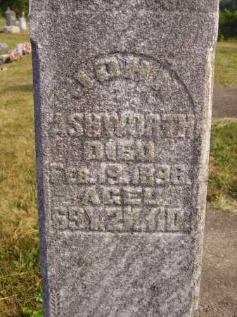 ASHWORTH, JOHN - CLOSEVIEW - Meigs County, Ohio | JOHN - CLOSEVIEW ASHWORTH - Ohio Gravestone Photos