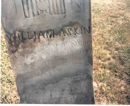 ASKIN, WILLIAM - Meigs County, Ohio | WILLIAM ASKIN - Ohio Gravestone Photos