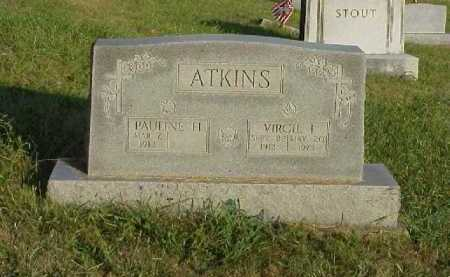 ATKINS, PAULINE H. - Meigs County, Ohio | PAULINE H. ATKINS - Ohio Gravestone Photos