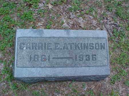 ATKINSON, CARRIE E. - Meigs County, Ohio | CARRIE E. ATKINSON - Ohio Gravestone Photos