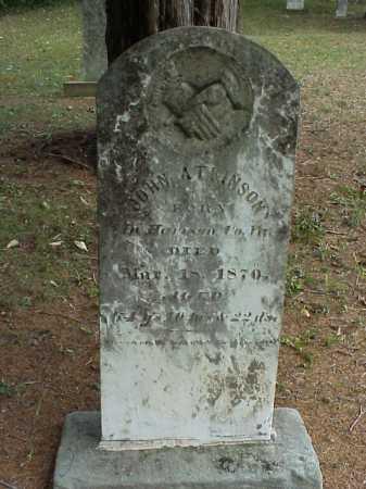 ATKINSON, JOHN - Meigs County, Ohio | JOHN ATKINSON - Ohio Gravestone Photos