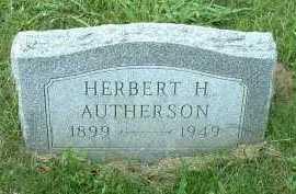 AUTHERSON, HERBERT H. - Meigs County, Ohio | HERBERT H. AUTHERSON - Ohio Gravestone Photos