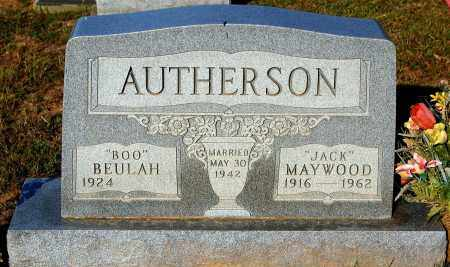 "AUTHERSON, MAYWOOD ""JACK"" - Meigs County, Ohio 