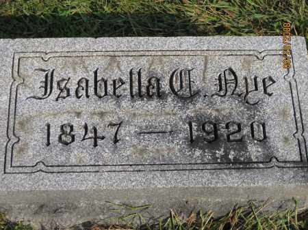 AYE, ISABELLA C - Meigs County, Ohio | ISABELLA C AYE - Ohio Gravestone Photos