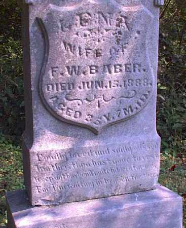 BABER, LENA - Meigs County, Ohio | LENA BABER - Ohio Gravestone Photos