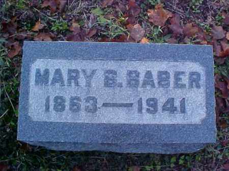 BABER, MARY B. - Meigs County, Ohio | MARY B. BABER - Ohio Gravestone Photos