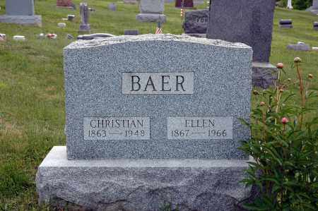 BAER, CHRISTIAN - Meigs County, Ohio | CHRISTIAN BAER - Ohio Gravestone Photos