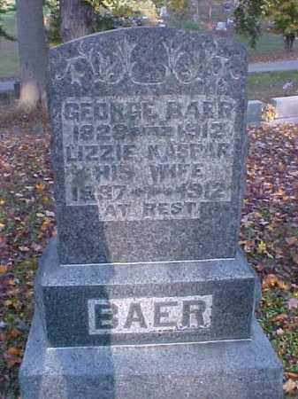 KASPER BAER, LIZZIE - Meigs County, Ohio | LIZZIE KASPER BAER - Ohio Gravestone Photos