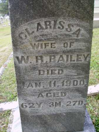 HOLT BAILEY, CLARISSA - Meigs County, Ohio | CLARISSA HOLT BAILEY - Ohio Gravestone Photos