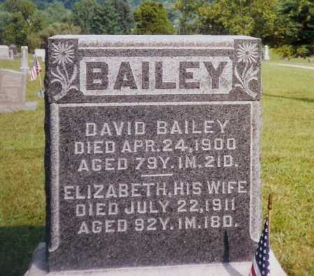 BAILEY, ELIZABETH - Meigs County, Ohio | ELIZABETH BAILEY - Ohio Gravestone Photos