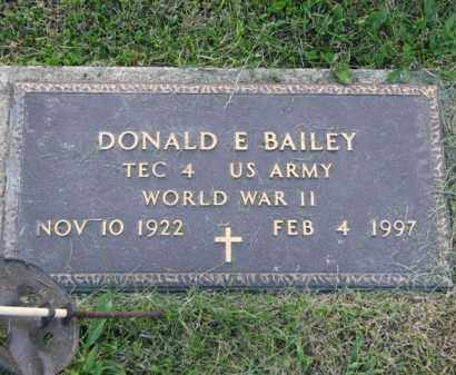 BAILEY, DONALD E. - Meigs County, Ohio | DONALD E. BAILEY - Ohio Gravestone Photos