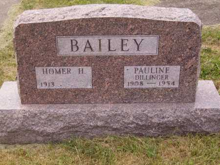 DILLINGER BAILEY, PAULINE - Meigs County, Ohio | PAULINE DILLINGER BAILEY - Ohio Gravestone Photos
