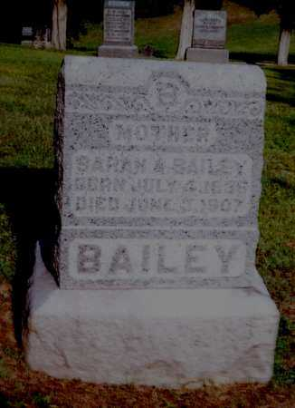 WILL BAILEY, SARAH A. - Meigs County, Ohio | SARAH A. WILL BAILEY - Ohio Gravestone Photos