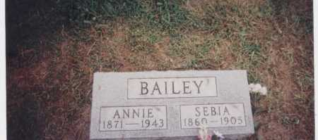 BAILEY, SEBIA - Meigs County, Ohio | SEBIA BAILEY - Ohio Gravestone Photos