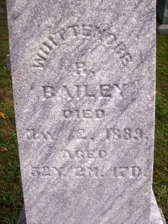 BAILEY, WHITTEMORE B. - Meigs County, Ohio | WHITTEMORE B. BAILEY - Ohio Gravestone Photos
