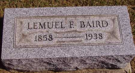 BAIRD, LEMUEL FREMONT - Meigs County, Ohio | LEMUEL FREMONT BAIRD - Ohio Gravestone Photos