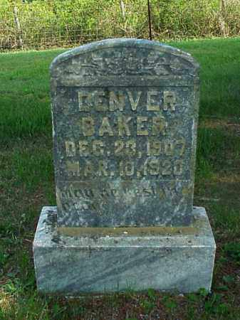 BAKER, DENVER - Meigs County, Ohio | DENVER BAKER - Ohio Gravestone Photos