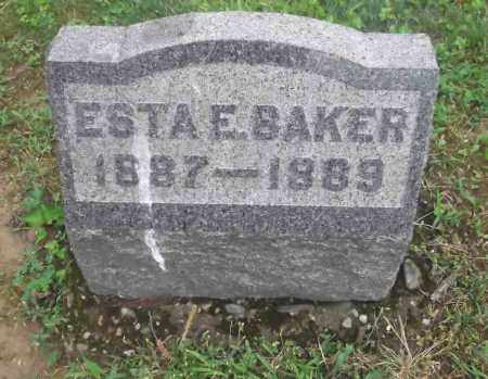 BAKER, ESTA E. - Meigs County, Ohio | ESTA E. BAKER - Ohio Gravestone Photos