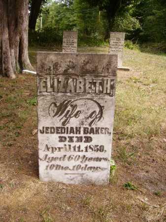 BAKER, ELIZABETH - Meigs County, Ohio | ELIZABETH BAKER - Ohio Gravestone Photos