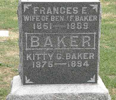 BAKER, FRANCES E. - Meigs County, Ohio | FRANCES E. BAKER - Ohio Gravestone Photos