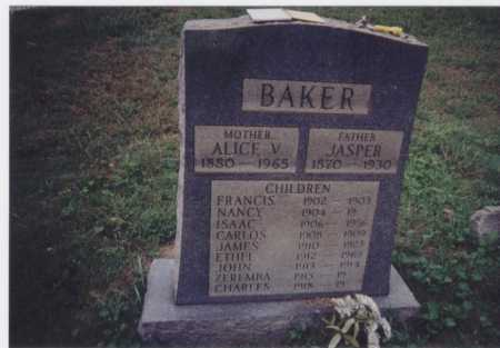 BAKER, FRANCIS - Meigs County, Ohio | FRANCIS BAKER - Ohio Gravestone Photos