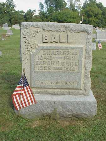 BALL, CHARLES - Meigs County, Ohio | CHARLES BALL - Ohio Gravestone Photos