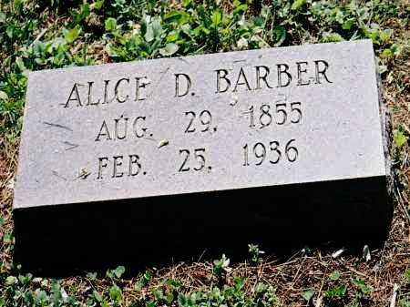 BARBER, ALICE D. - Meigs County, Ohio | ALICE D. BARBER - Ohio Gravestone Photos