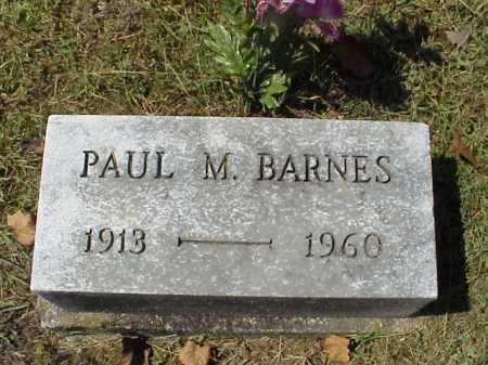 BARNES, PAUL M. - Meigs County, Ohio | PAUL M. BARNES - Ohio Gravestone Photos