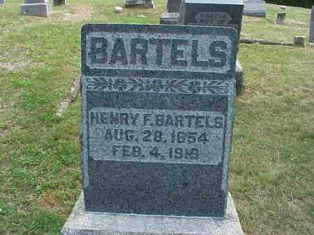 BARTELS, HENRY F. - Meigs County, Ohio | HENRY F. BARTELS - Ohio Gravestone Photos