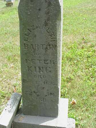 BARTON KING, ELIZABETH - Meigs County, Ohio | ELIZABETH BARTON KING - Ohio Gravestone Photos