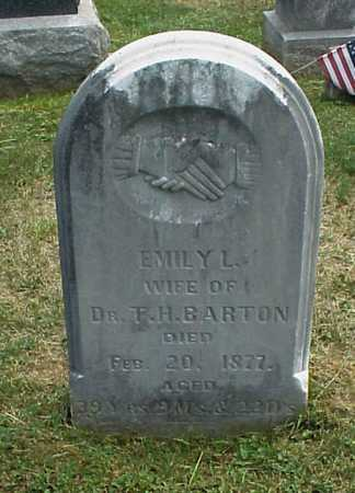 BARTON, EMILY L. - Meigs County, Ohio | EMILY L. BARTON - Ohio Gravestone Photos
