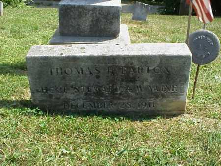 BARTON, THOMAS H. - Meigs County, Ohio | THOMAS H. BARTON - Ohio Gravestone Photos