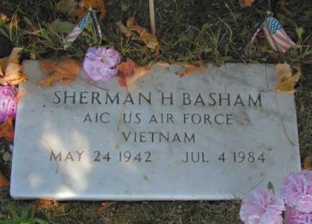 BASHAM, SHERMAN H. - Meigs County, Ohio   SHERMAN H. BASHAM - Ohio Gravestone Photos