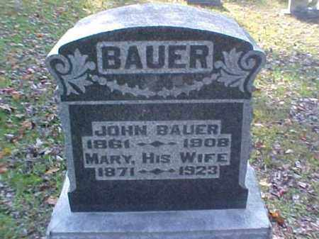 BAUER, JOHN - Meigs County, Ohio | JOHN BAUER - Ohio Gravestone Photos